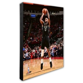 NBA Khris Middleton 2018 19 Action Stretched Canvas Officially Licensed