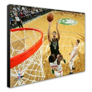 NBA Brook Lopez 2018 19 Action Stretched Canvas Officially Licensed