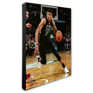 NBA Giannis Antetokounmpo 2016 17 Action Stretched Canvas Officially Licensed