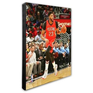 NBA Anthony Davis 2016 17 Action Stretched Canvas Officially Licensed