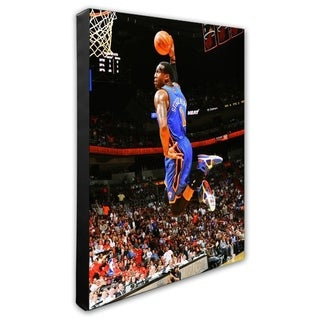 NBA Amar E Stoudemire 2010 11 Action Stretched Canvas Officially Licensed