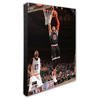 NBA Russell Westbrook 2015 NBA All Star Game Action Stretched Canvas Officially Licensed