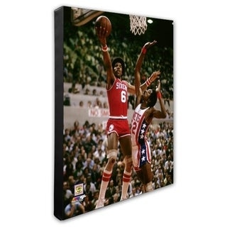 NBA Julius Erving Action Stretched Canvas Officially Licensed