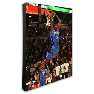 NBA Victor Oladipo 2015 NBA Slam Dunk Contest Action 2015 All Star Game Stretched Canvas Officially Licensed