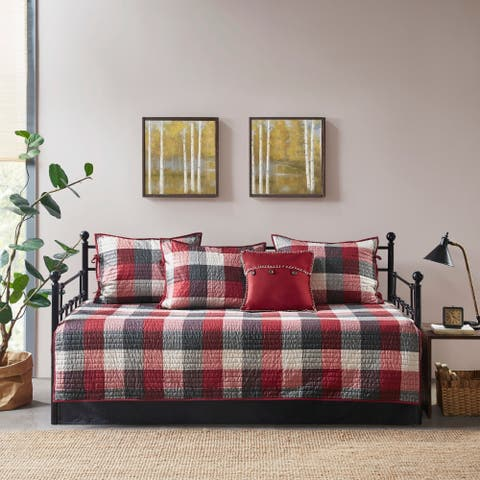 Madison Park Pioneer Red 6 Piece Reversible Daybed Cover Set