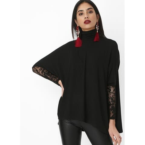 Bambina Mia Collection - Black Lace - Sleeve Dolman Top