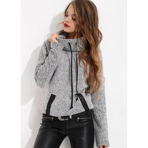 Bambina Mia Collection - Grey Cowl Neck Sweater