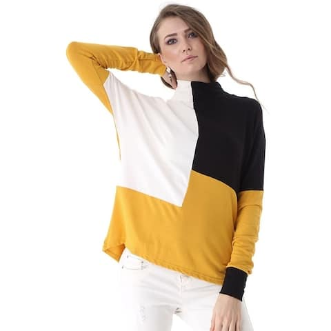 Bambina Mia Collection - Yellow & Black Color Block Turtleneck
