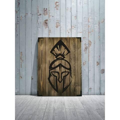 "Spartan Soldier Wooden Wall Decor - Size: 28"" x 20"" - Handmade - Urban Wood Home Décor"