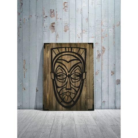 """The Man Wooden Wall Decor - Size: 28"""" x 20"""" - Handmade - Modern Wood Home Décor"""