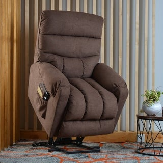 Copper Grove Vedi Electric Power Lift Reclining Chair with Side Pocket