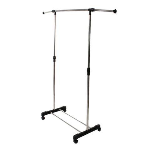 Clothes Garment Rack on Wheels Hanging Rod Metal Clothing Rack