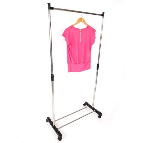 Adjustable Garment Rack - Rolling Clothes Organizer