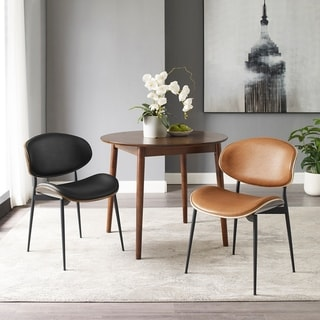 Art-leon Mid-Century Bentwood Accent Upholstery Dining Chair