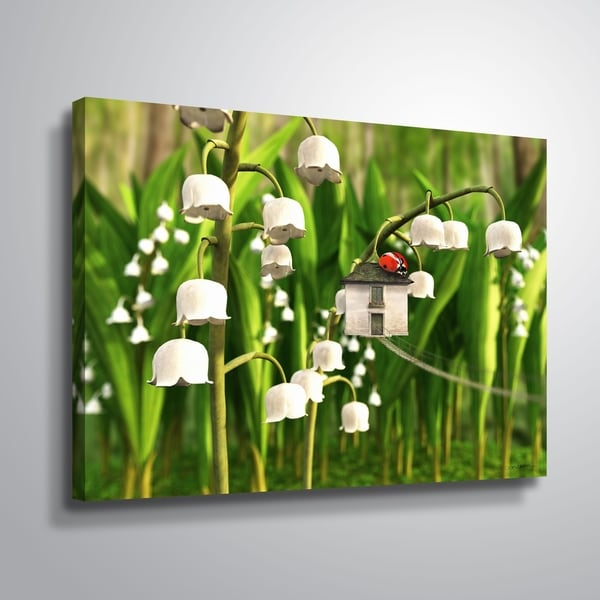 """""""Lily of the Valley"""" Gallery Wrapped Canvas"""