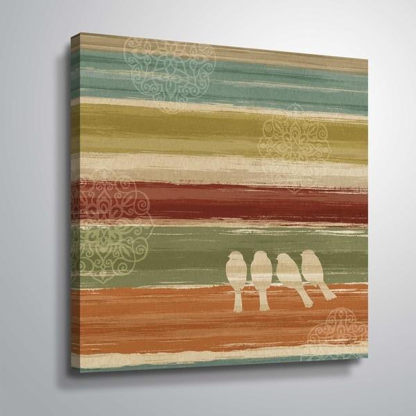 """Mumbai Rainbow Birds III"" Gallery Wrapped Canvas"