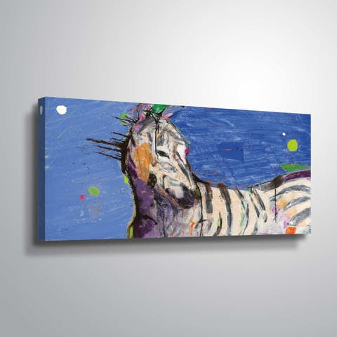"""""""Zebra Blue"""" Gallery Wrapped Canvas"""