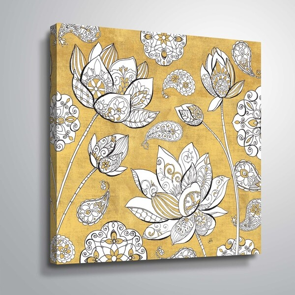"""""""Color my World Lotus I"""" Gallery Wrapped Canvas"""