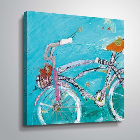 """""""Ride Blue Pink"""" Gallery Wrapped Canvas"""