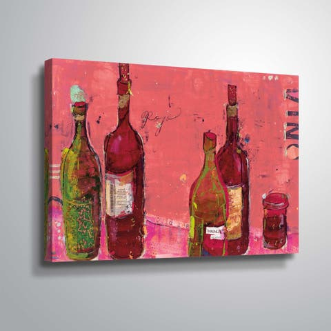 """""""Vino Coral"""" Gallery Wrapped Canvas"""
