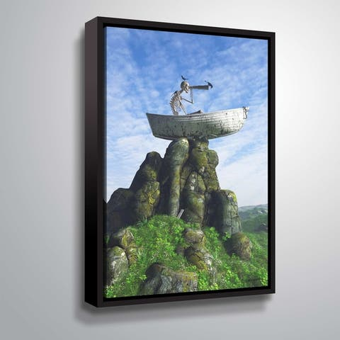 """""""Marooned"""" Gallery Wrapped Floater-framed Canvas"""
