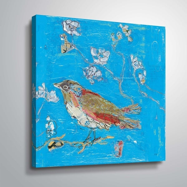 """Blue Bird"" Gallery Wrapped Canvas"