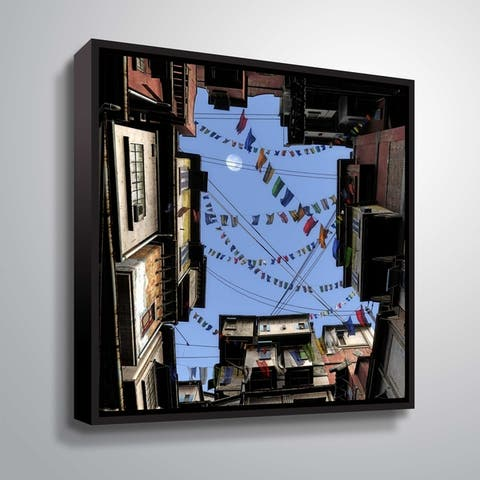 """""""Prayer Flags"""" Gallery Wrapped Floater-framed Canvas"""