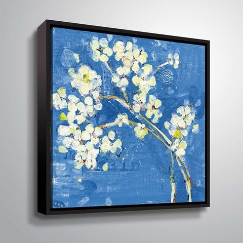 """Live Dark Blue"" Gallery Wrapped Floater-framed Canvas"