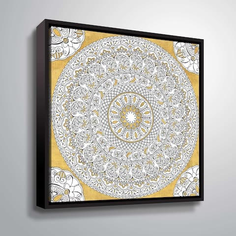 """""""Color my World Mandala I"""" Gallery Wrapped Floater-framed Canvas"""