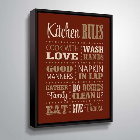 """Kitchen Rules"" Gallery Wrapped Floater-framed Canvas"