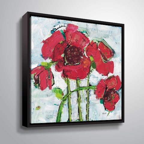 """""""POP Square with Magenta"""" Gallery Wrapped Floater-framed Canvas"""