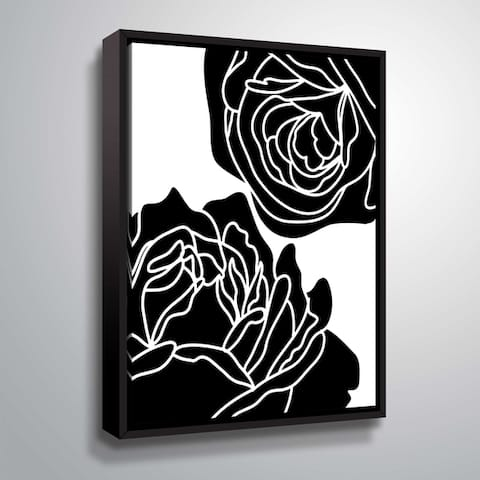 """""""Zoom Flower II"""" Gallery Wrapped Floater-framed Canvas"""