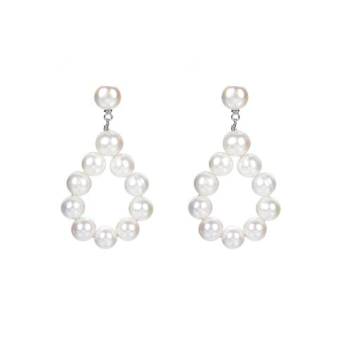 Sterling Silver with Freshwater Cultured Pearl Drop Earring