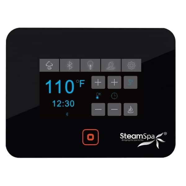 Steamspa Black Series Bluetooth 9kw Quickstart Steam Bath Generator Package In Gold Overstock 29550723