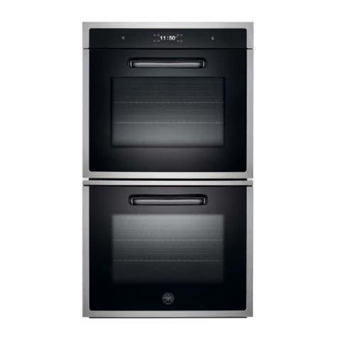 """30"""" Designer Double Oven Top Version Stainless Steel"""