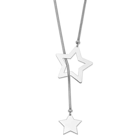Sterling Silver Star Cable Wrap Necklace by Versil