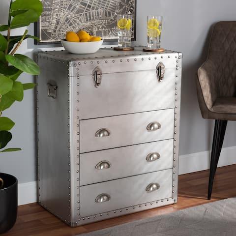 Carbon Loft Rameses Silver Metal 3-drawer Storage Cabinet