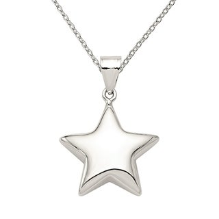 Versil Sterling Silver Star Charm With 18 Inch Chain