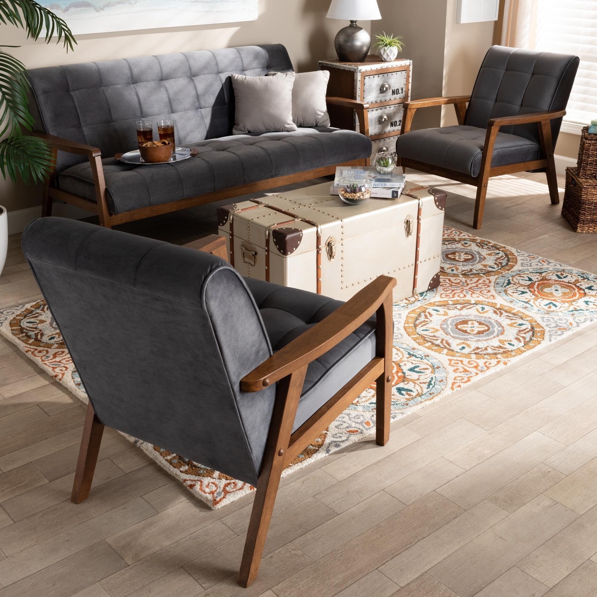 Brovalla Mid Century Modern Upholstered