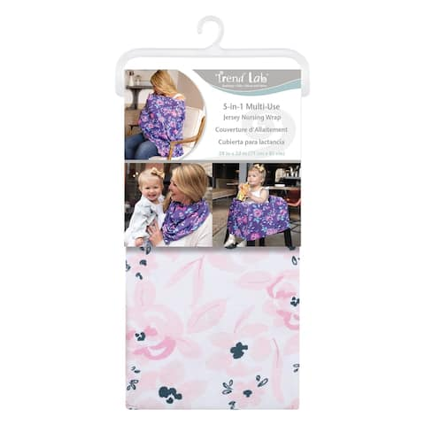 Watercolor Floral Multi-Use Nursing Wrap - Pink