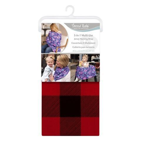 Buffalo Check Multi-Use Nursing Wrap - Red