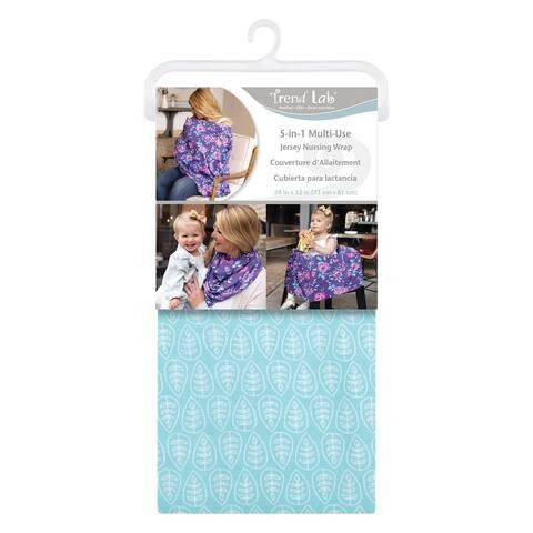 Leaves Multi-Use Nursing Wrap - Blue