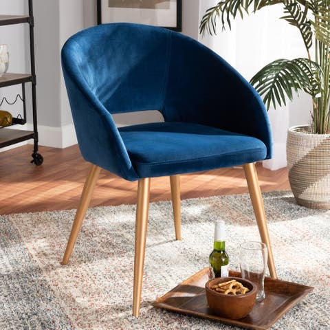 Carson Carrington Baecken Glam and Luxe Upholstered Dining Chair - N/A