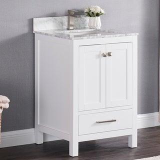 Copper Grove Dalat 24-inch Single Sink Bathroom Vanity Set with Marble Top