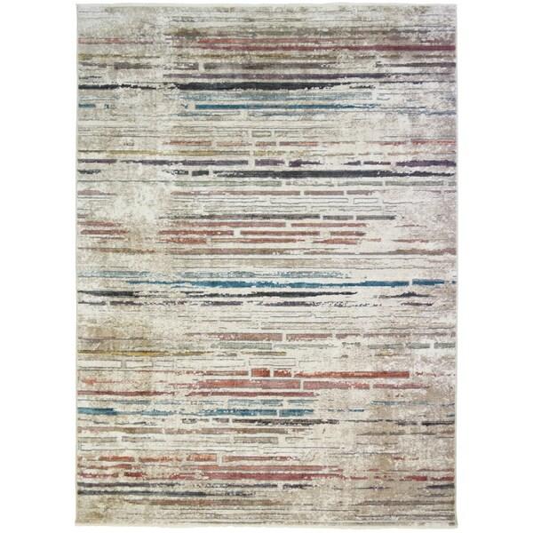 Oxford Hillcrest Multi Contemporary Striped Rug