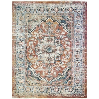Oxford Dover Traditional Distressed Vintage Oriental Rug