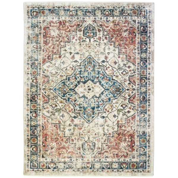 Oxford Castle Traditional Distressed Vintage Oriental Rug