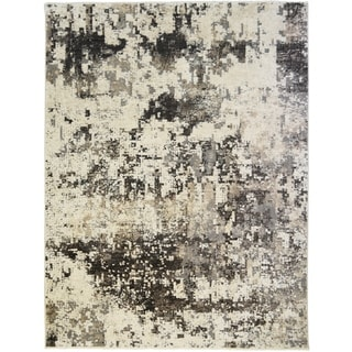 Oxford Bangor Black Contemporay Abstract Rug