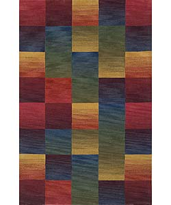 Ombre Boxes Multicolor Rug (3'5 x 5'5)