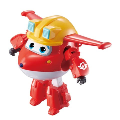 Super Wings Transforming Build It 5 Inch Jett Figure